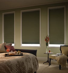 "Comfortex® 1/2"" Single Honeycomb Cellular Shades: Virtuoso Blackout shown in Basil"