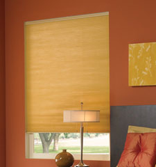 "Comfortex® 3/8"" Double Honeycomb Cellular Shades: Symphony Blackout in Golden Rod"
