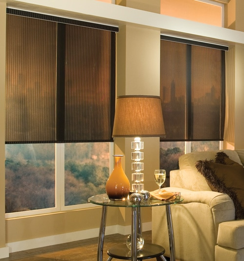 Comfortex® Envision® Roller Shades: EcoGreen Strata shown in Charcoal Bronze