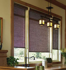 Comfortex® Envision® Solar Shade Sheer Weave 5000 shown in Crepe Chestnut