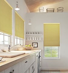 Simply Chic Double Cell Light Filtering Cellular Shade shown in Spring Moss