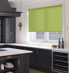 Simply Chic Roller Shade: Solid Colors shown in Spring Moss