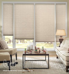 "Good Housekeeping 1/2"" Light Filtering Cellular Shade shown in color Muslin"