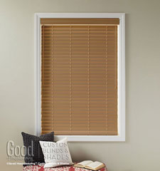 Good Housekeeping Faux Wood Blind shown in Light Oak