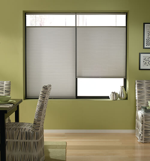 Blindsgalore Cordless Top Down Bottom Up Cellular Shades shown in Golden