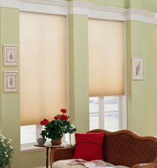"Blindsgalore 3/4"" Traditions Single Cell Cellular Shade shown in color Honey"