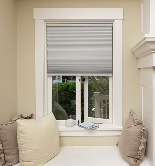 Simple Fit Pop-In Cellular Shade: Blackout shown in Linen color