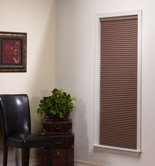 Simple Fit Pop-In Cellular Shade: Light Filtering Double Cell shown in Mocha color