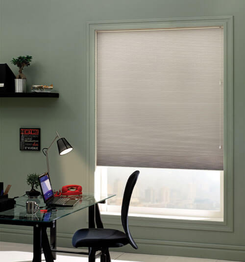 Blindsgalore Cellular Shades shown in Birch