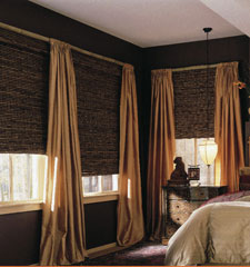 Blindsgalore Artisan Woven Wood shade shown in color Makapuu Legend