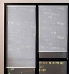 Blindsgalore® Solar Screen: 5% Openness shown in White