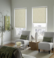 Blindsgalore® Expressions Solar Shade: Contemporary Patterns shown in Pebble Beach