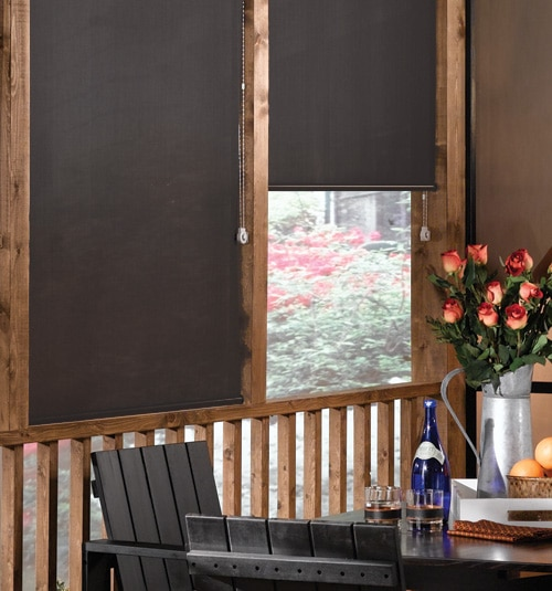 Blindsgalore® Solar Screen: 3% Openness shown in Charcoal