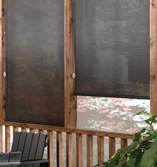 Blindsgalore® Solar Screen: 10% Openness shown in Chocolate