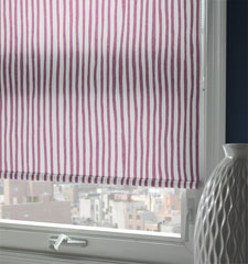 Expressions Roller Shade shown in color Casual Stripe - Blush