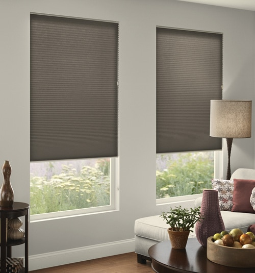 Impression Blackout Cellular Shade shown in Burlap